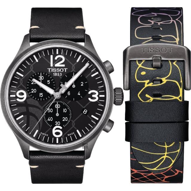 【TISSOT 天梭】CHRONO XL 3X3 街頭籃球特別版手錶(T1166173606700)