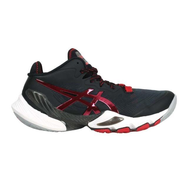 【asics 亞瑟士】METARISE 限量-男排羽球鞋-訓練 亞瑟士 黑紅(1051A058-001)