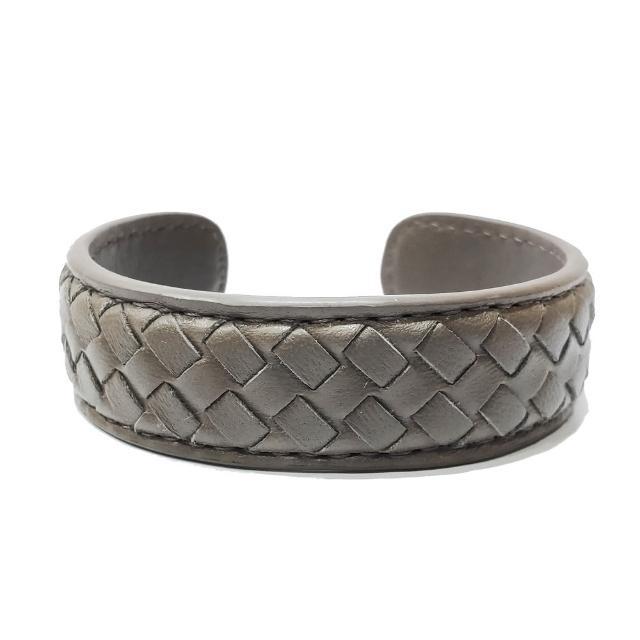 【BOTTEGA VENETA 寶緹嘉】430764 經典手工編織小羊皮手環(灰色)