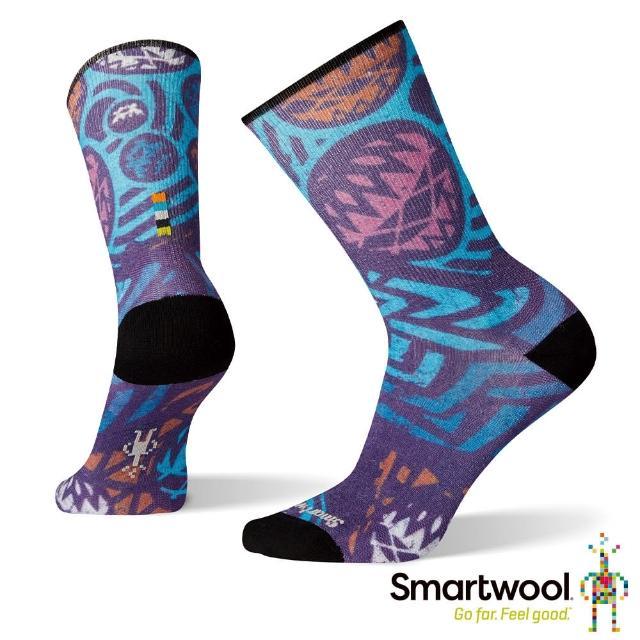 【SmartWool】女 Print系列中長襪-Street Design(彩色)