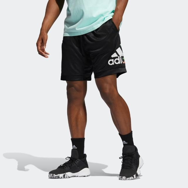 【adidas 愛迪達】Adidas Abstract Short 男 短褲 運動 籃球 休閒 舒適 吸濕 排汗 黑(GH6723)