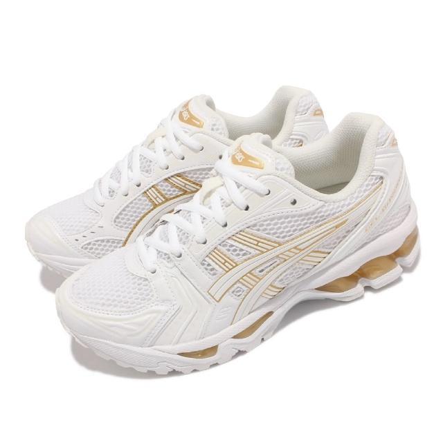 【asics 亞瑟士】慢跑鞋 GEL-Kayano 14 復古 女鞋 亞瑟士 緩衝 避震 穿搭 亞瑟膠 白 金(1202A056101)