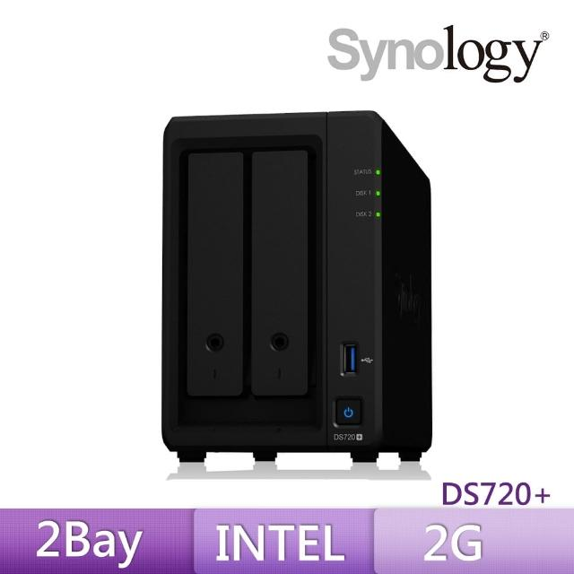 【搭CyberPower 1000VA在線互動式UPS+希捷 8TB x2】Synology 群暉科技 DS720+ 2Bay 網路儲存伺服器