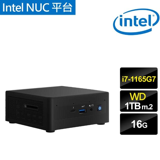 【Intel 英特爾】NUC平台{暴雪金剛} i7四核迷你電腦(i7-1165G7/16G/1TB m.2)