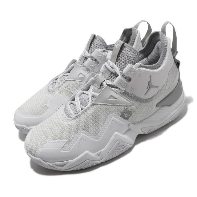 【NIKE 耐吉】籃球鞋 Westbrook One 運動 男鞋 避震 支撐 包覆 明星款 喬丹 球鞋 白 銀(CJ0781-100)