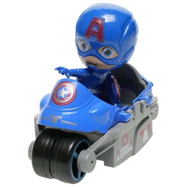 【TDL】漫威英雄美國隊長公仔模型合金玩具車 560086