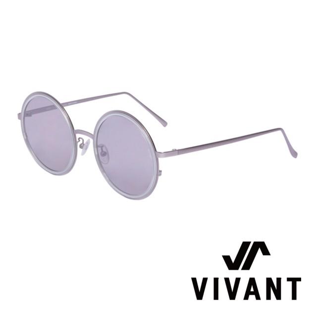 【VIVANT】韓國 復古正圓框 潮流 太陽眼鏡(.銀 MOIS Ⅱ C3)