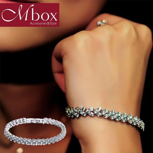 【Mbox】手鍊 完美羅馬-長款 震撼AAA級鋯石水晶鑽石手鍊(手鍊)