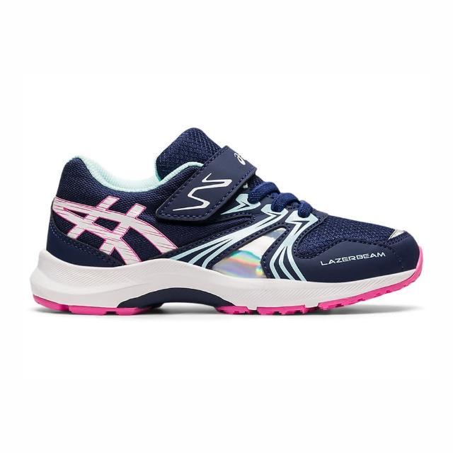 【asics 亞瑟士】Asics Lazerbeam Ka-mg 中童 慢跑鞋 運動 休閒 輕量 緩衝 彈力 深藍(1154A109-403)