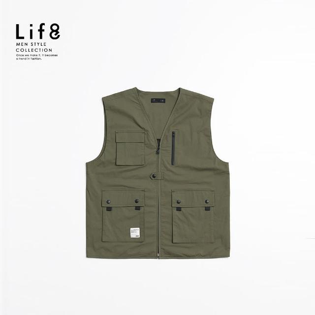 【Life8】Casual 都市工風 多口袋戰術背心(10524)