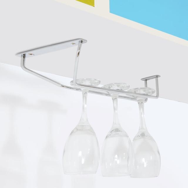 【TaKaYa】304不鏽鋼單排高腳杯架-寬口12cm/酒杯架/紅酒杯架/收納/廚房(14x31cm/台灣製造)