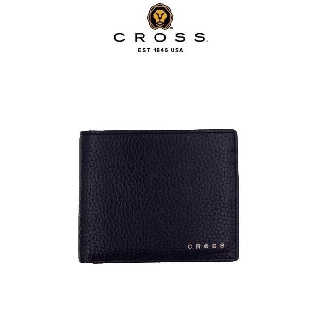 【CROSS】限量2折 頂級小牛皮荔枝紋4卡1零錢袋皮夾 全新專櫃展示品(哈德森系列 附原廠送禮提袋)
