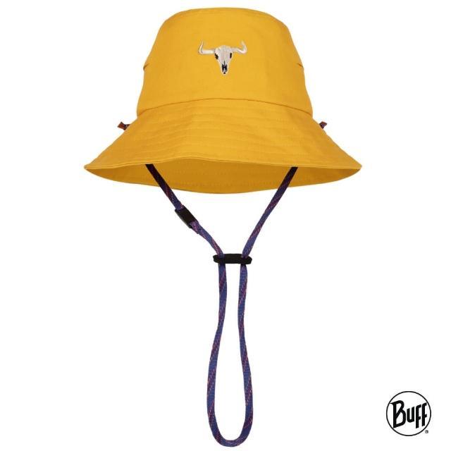 【BUFF】兒童圓盤帽-活力鴨黃(BF125368-105/防曬帽/遮陽帽)
