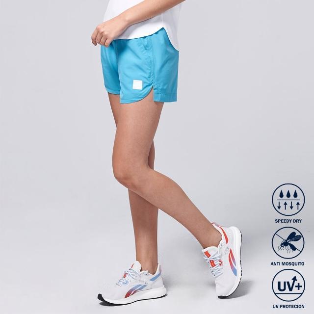 【BATIS 巴帝斯】防蚊抗 UV 口袋修身運動短褲 - 女 - 三色(碧藍 白 黑)