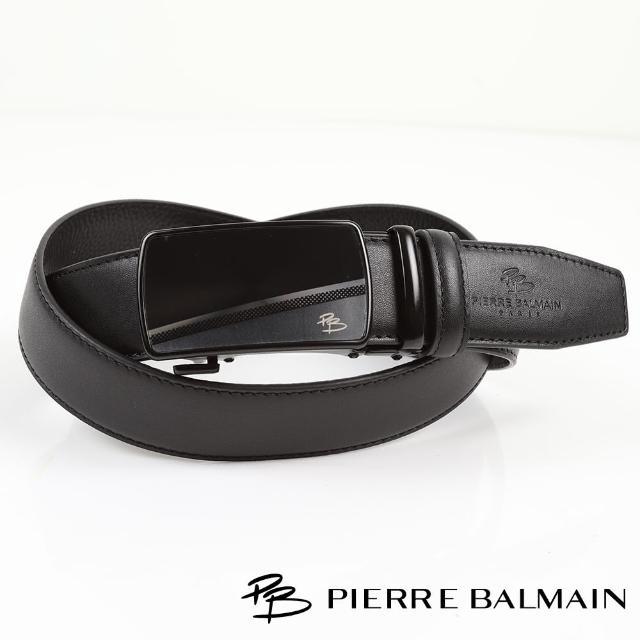 【PB 皮爾帕門】時尚方框真皮自動扣皮帶(頭層牛皮608)