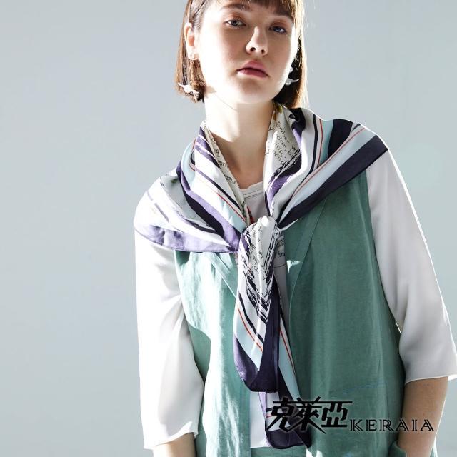 【KERAIA 克萊亞】輕描淡寫蕾絲雪紡拼接上衣