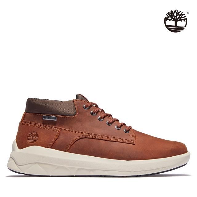 【Timberland】男款棕色Bradstreet全粒面皮革防水靴(A2817358)