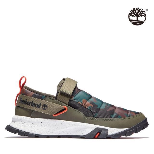 【Timberland】男款橄欖色迷彩Mills Falls休閒鞋(A2JQ2911)