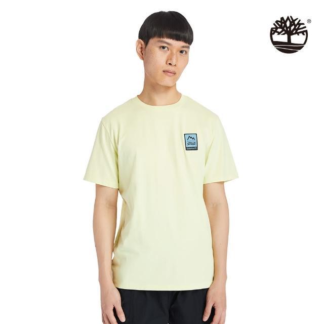【Timberland】男款亮綠色ARCHIVE圖案短袖T恤(A2DV3322)