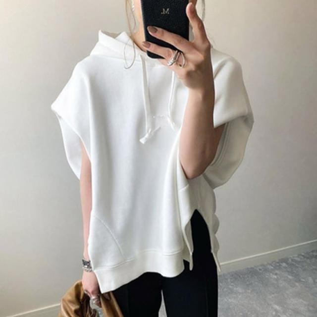 【Pure 衣櫃】日系設計感連帽純色短袖帽T(簡約/舒適/百搭/KDT-0657)