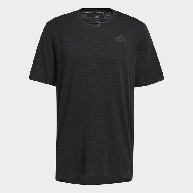 【adidas 愛迪達】上衣 男款 運動 健身 慢跑 排汗 短袖上衣 黑 GL0434