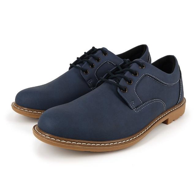 【Hang Ten】時尚男休閒皮鞋K9911藍(都會/穿搭/時尚/雅痞)