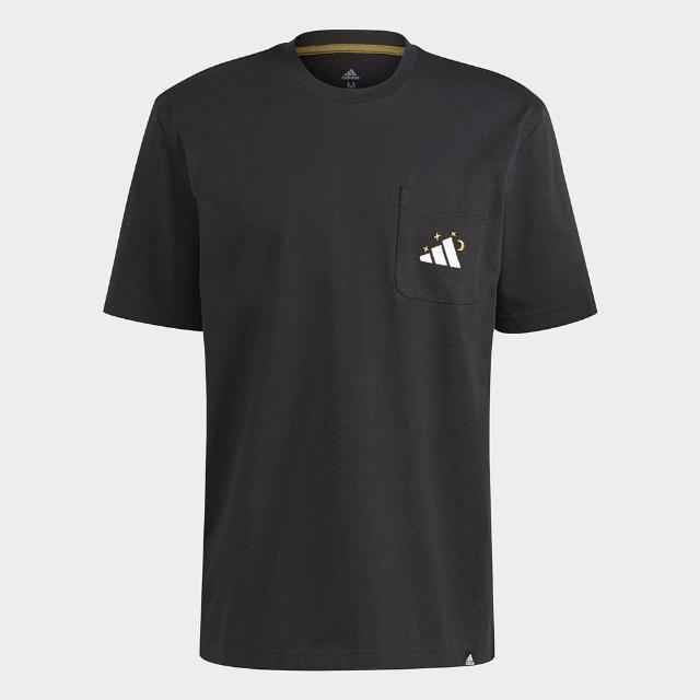 【adidas 愛迪達】上衣 男款 運動 健身 慢跑 短袖上衣 黑 GN8181