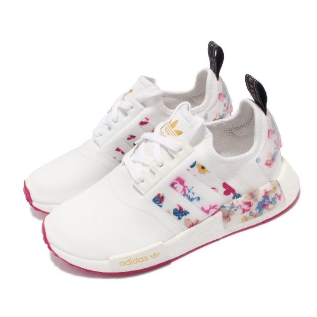 【adidas 愛迪達】休閒鞋 NMD_R1 W 襪套 運動 女鞋 愛迪達 boost中底 避震 休閒穿搭 白 粉(FY3666)