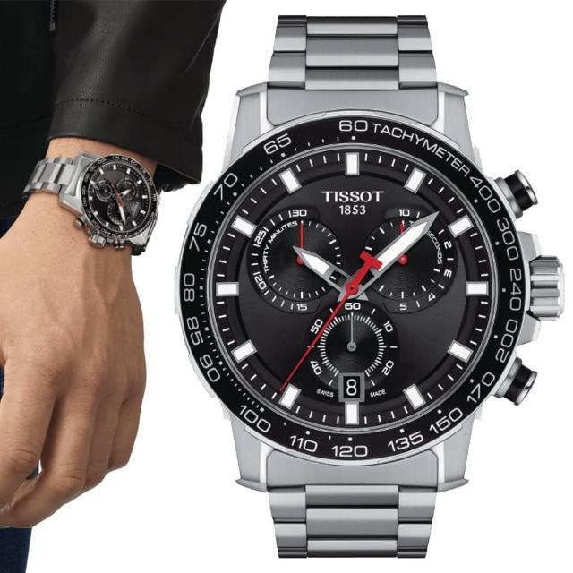 【TISSOT 天梭】SUPERSPORT CHRONO 三眼計時腕錶 / 45.5mm(T1256171105100)