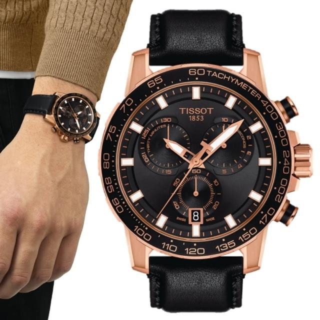 【TISSOT 天梭】SUPERSPORT CHRONO 三眼計時腕錶 / 45.5mm(T1256173605100)