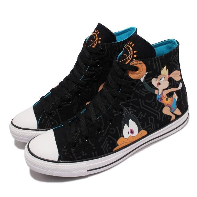 【CONVERSE】休閒鞋 All Star 聯名 運動 男女鞋 怪物奇兵 帆布 卡通人物印花 情侶款 黑 彩(172485C)
