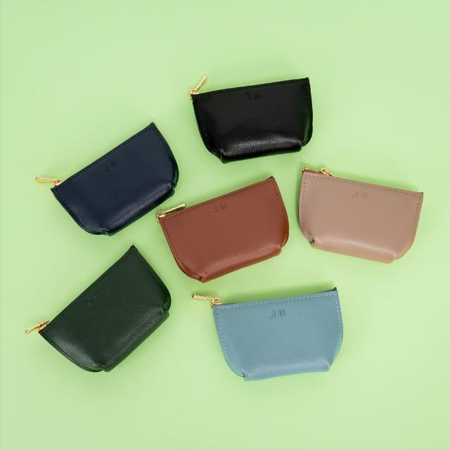 【J II】零錢包-輕巧牛皮零錢包-焦糖色-3101-5(零錢包)