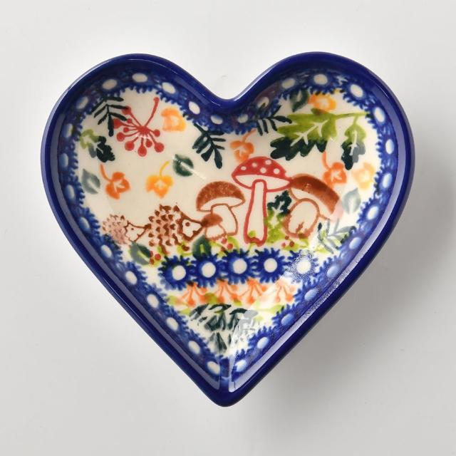【波蘭陶】綠野仙蹤系列 愛心醬料碟 波蘭手工製