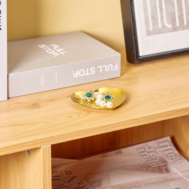【居家收納】北歐ins風 心形首飾盤 金色飾品戒指托盤 金屬飾品收納 展示盤