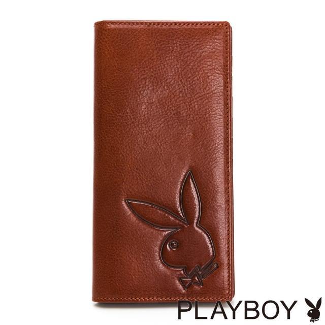 【PLAYBOY】翻蓋長夾 Mr. Rabbit系列(咖色)