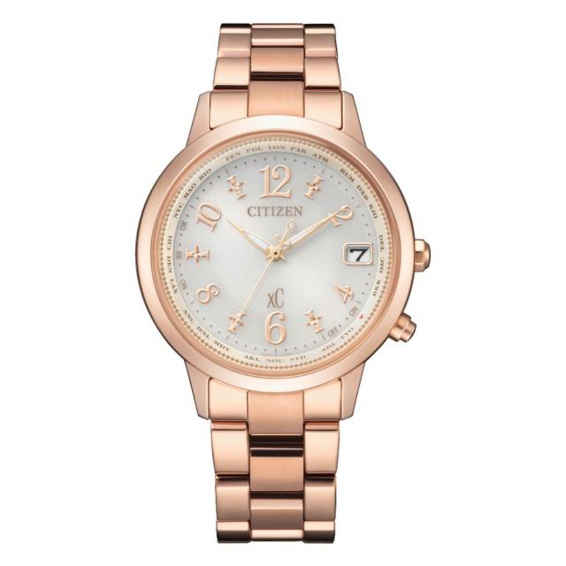 【CITIZEN 星辰】xC 光動能簡約風格限定電波腕錶-玫瑰金X白(CB1107-58A)