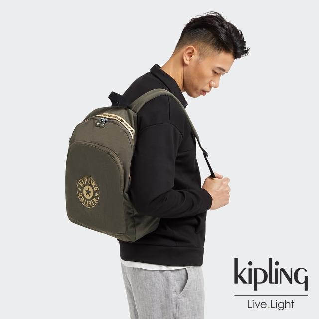 【KIPLING】深焙烏龍綠大容量簡約手提後背包-CURTIS L