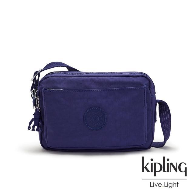 【KIPLING】深邃銀河藍多層隨身斜背包-ABANU M