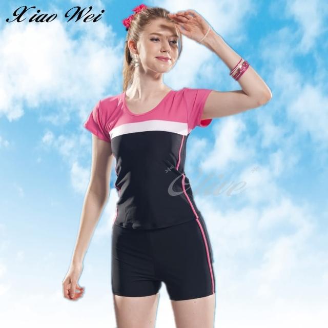 【小薇的店】泳之美品牌流行大女二件式短袖泳裝(NO.282358)