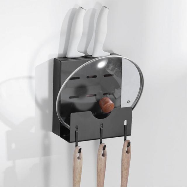 【居家收納】北歐風 壁掛式刀具鍋蓋架 鋁合金置物架 刀具鍋蓋收納架(刀具架)