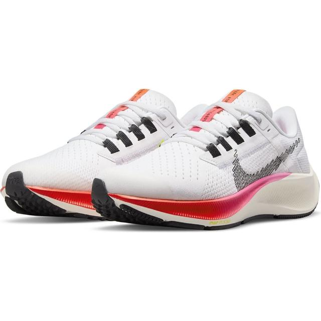 【NIKE 耐吉】慢跑鞋 女鞋 大童鞋 運動鞋 緩震 小飛馬 AIR ZOOM PEGASUS 38 GS 白粉 DJ5557-100