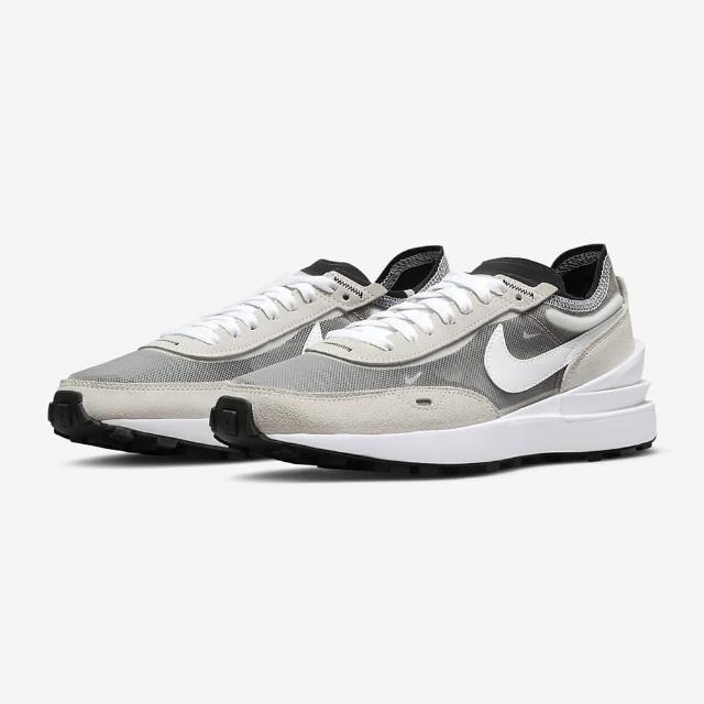 【NIKE 耐吉】慢跑鞋 女鞋 運動鞋 麂皮 W WAFFLE ONE 灰白 DC2533-102