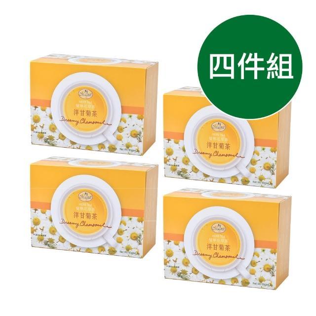 【曼寧】德國花草茶 洋甘菊茶包1.5gx40入x4盒(花草茶、洋甘菊茶、無咖啡因、舒壓放鬆)