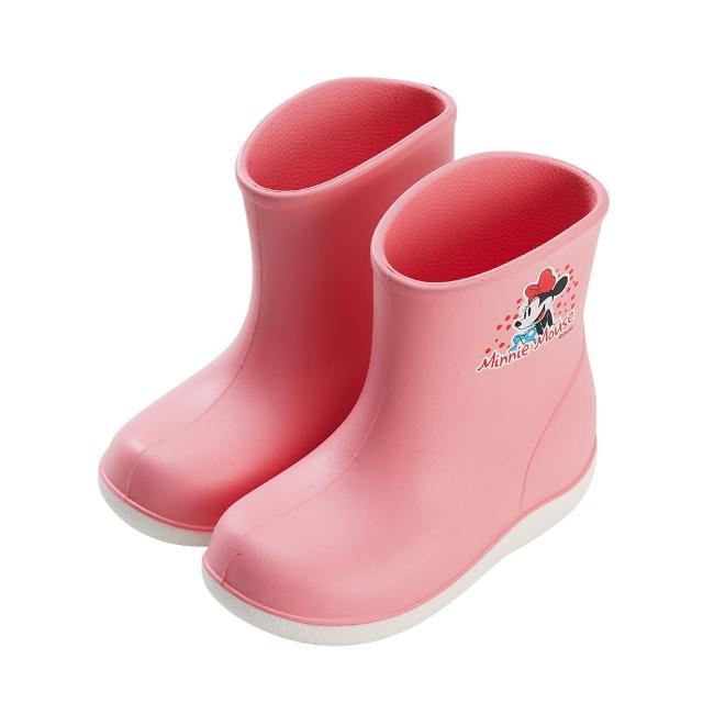 【Disney 迪士尼】迪士尼童鞋 米妮 輕量防水雙色短筒雨鞋-粉(MIT台灣在地工廠製造)