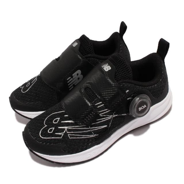 【NEW BALANCE】休閒鞋 FuelCore BOA W 寬楦 童鞋 紐巴倫 BOA旋鈕 拉轉壓 耐磨 中童 黑 白(PTRVLBW3-W)