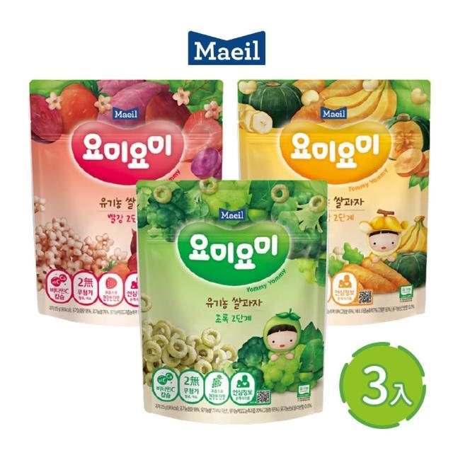 【韓國每日Maeil】米圈3入組合包(12個月以上幼兒適吃 100%來自大自然的健康零食)