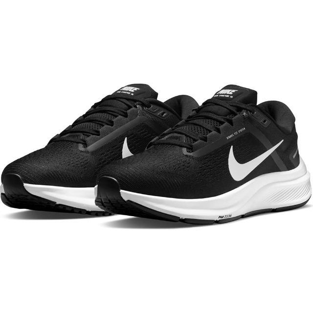 【NIKE 耐吉】慢跑鞋 女鞋 運動鞋 緩震 W AIR ZOOM STRUCTURE 24 黑紅 DA8570-001