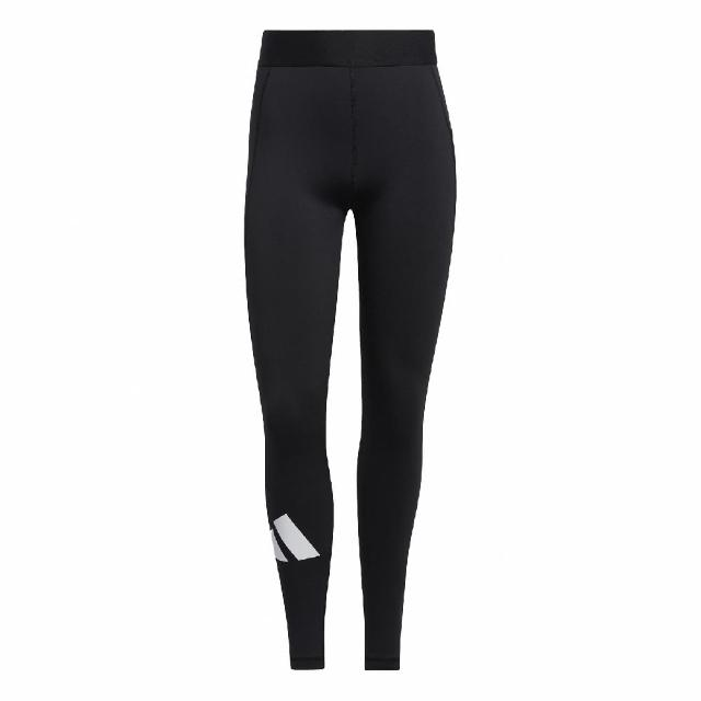 【adidas 愛迪達】緊身褲 Techfit Adilife 女款 愛迪達 內搭 健身 重訓 基本款 有彈性 黑 白(GM2986)