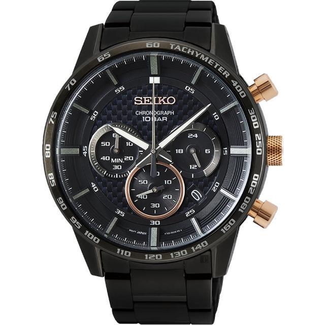 【SEIKO 精工】CS 台灣獨賣 賽車計時手錶-45.2mm(SSB361P2/8T63-00L0SD)
