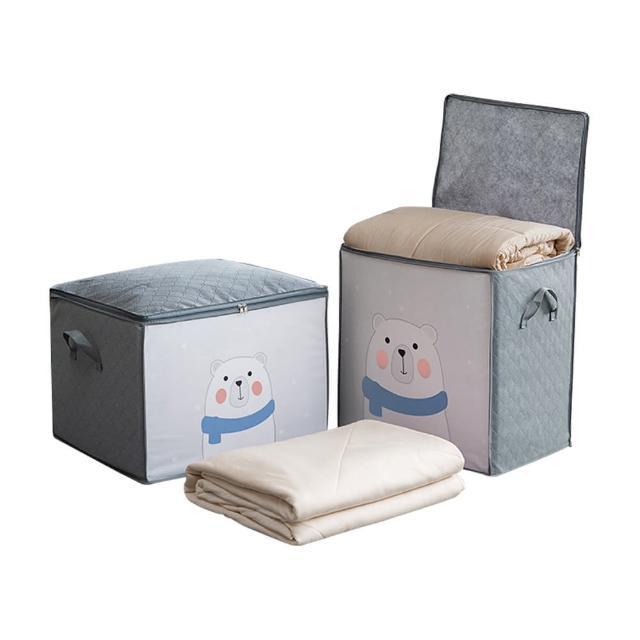 【JoyNa】3入-防霉棉被收納袋 防塵衣服收納袋(加大橫款.豎款)